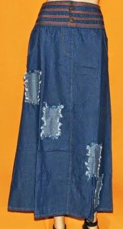 Rok Jeans Aplikasi Tempel RM283