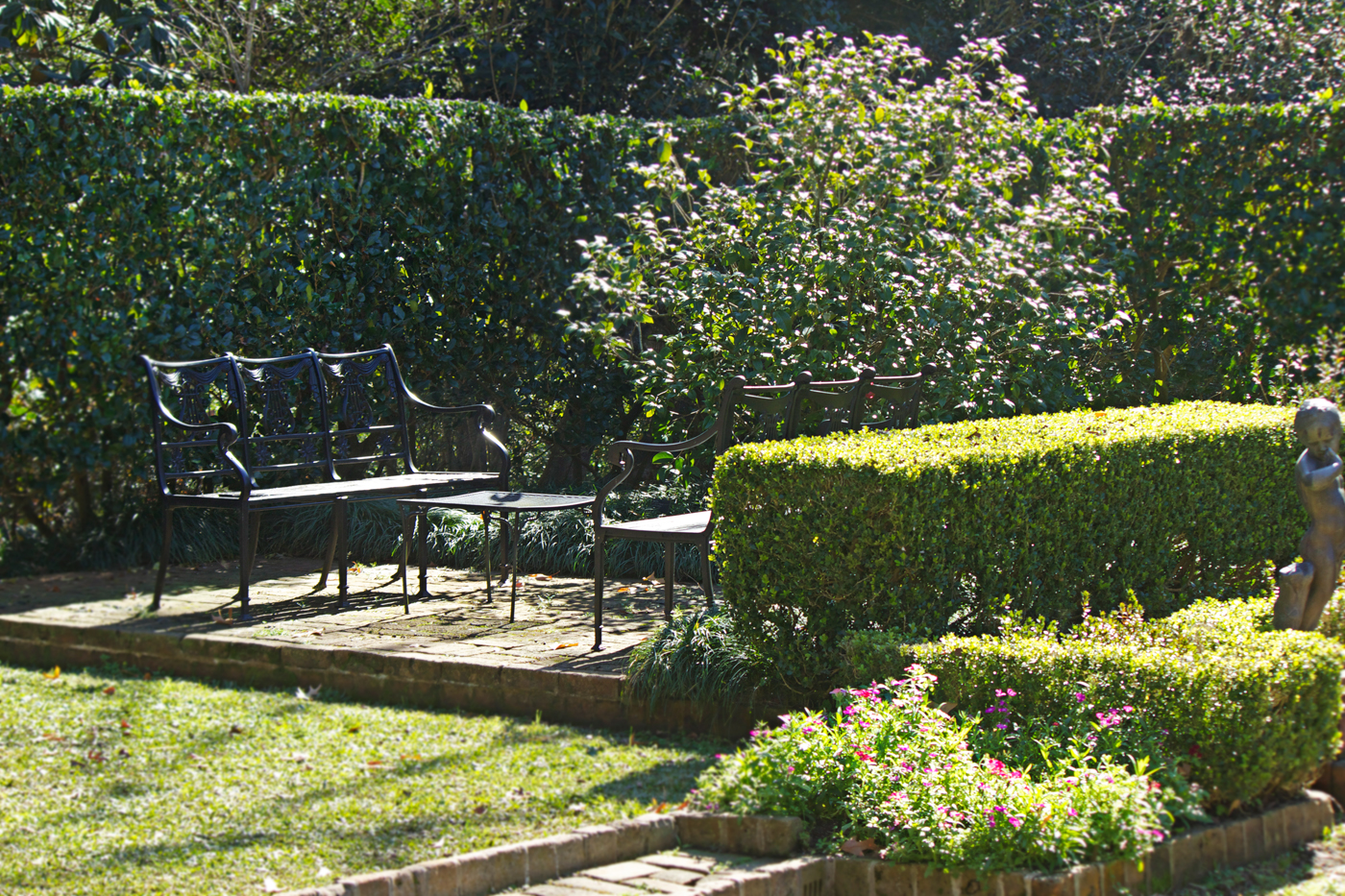botanical garden park bench - photo copyright Allison Beth Cooling