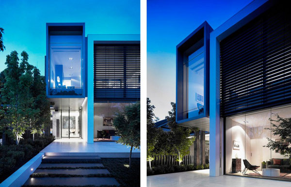 Photos of modern front facade of the house