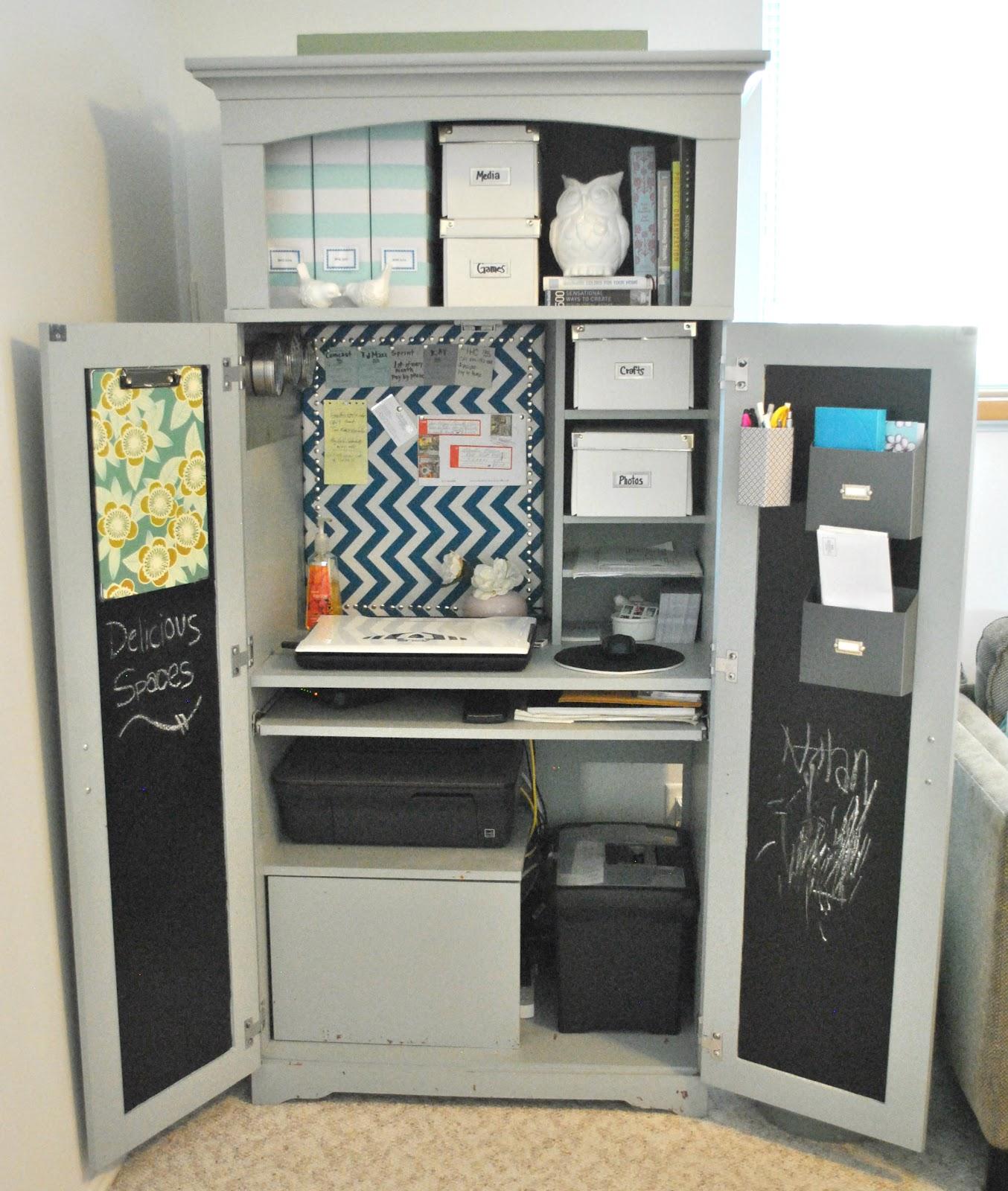 delicious spaces armoire desk reveal