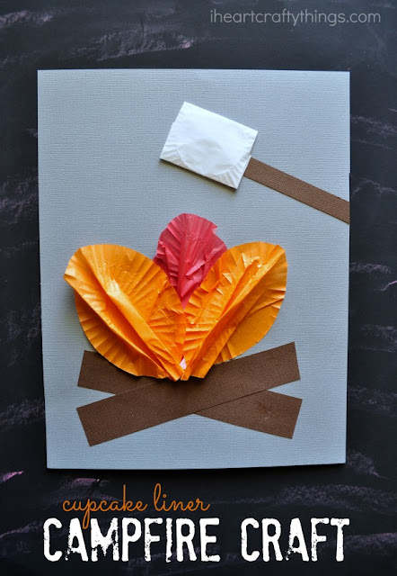 http://www.iheartcraftythings.com/2015/06/cupcake-liner-campfire-craft-for-kids.html