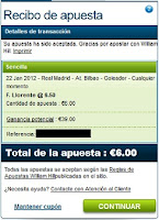 Apuestas Rosberg Fútbol – Liga BBVA España Real Madrid-Athletic Bilbao William Hill