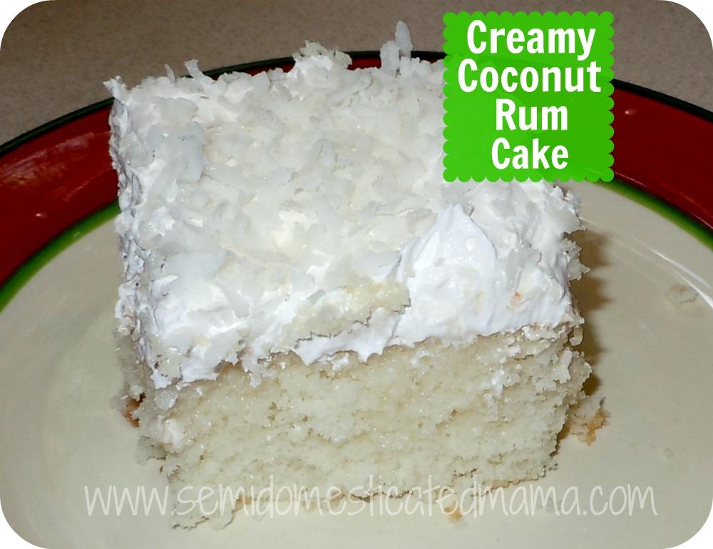 Creamy Coconut Rum Cake Recipe