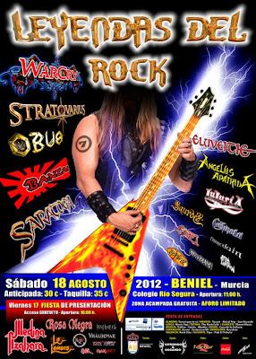 Leyendas del rock 2012 Beniel Murcia 17 18 de Agosto Cartel