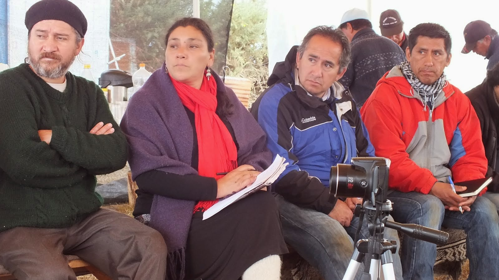 Imag Izq a Derecha, Julio e Ivon de Radio Werken Kuruf, Carlos de Radio Kimche Mapu y Elias Paillan