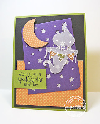 Spooktacular Birthday card-designed by Lori Tecler/Inking Aloud-stamps and dies from SugarPea Designs