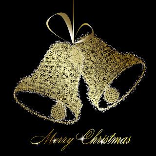 輝く星の光で描くクリスマスベル exquisite christmas bells background イラスト素材