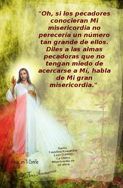 pecadores recurran a mi misericordia