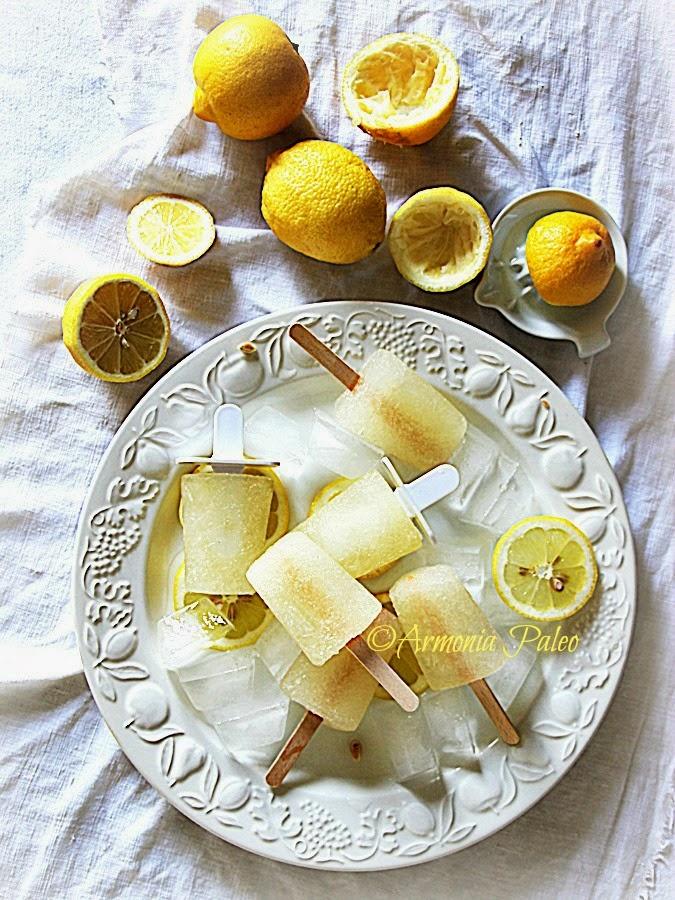 Ghiaccioli di Acqua di Cocco e Limone di Armonia Paleo