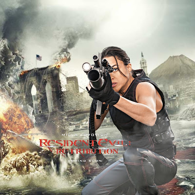 Rain Ocampo Resident Evil Retribution Movie iPad Wallpaper