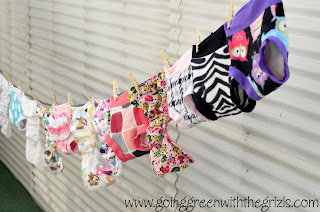 cloth diapers on clothesline