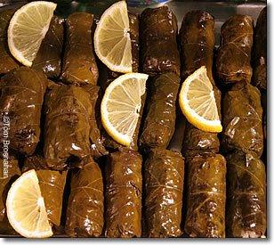 stuffed grape leaves warak enab mehshi in arabic ورق عنب ...