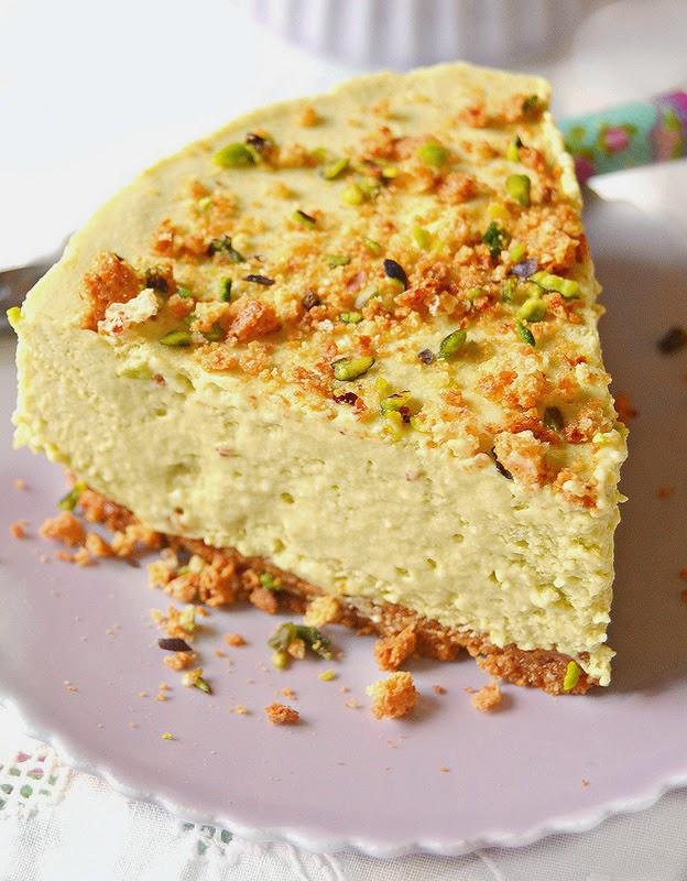 Cheesecake al pistacchio con meringa e ricotta...un amore senza fine!!!