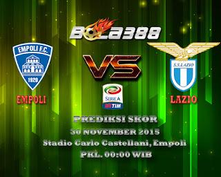 Agen Bola Terbaik : Prediksi Skor Empoli Vs Lazio 30 November 2015