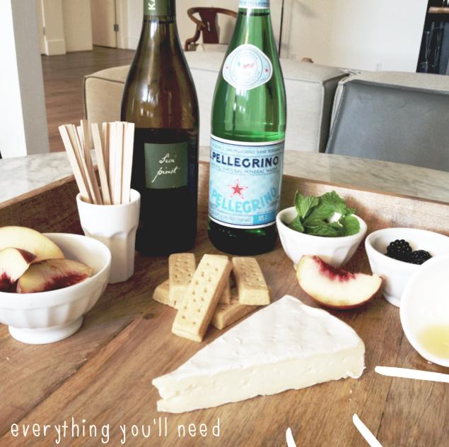 G3q Designs In The Kitchen Blackberry Skewers Peach Wine Spritzer