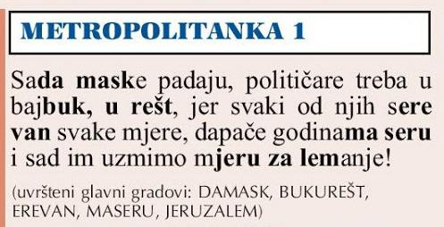 3. kolo 11. Prvenstva Hrvatske u enigmatici