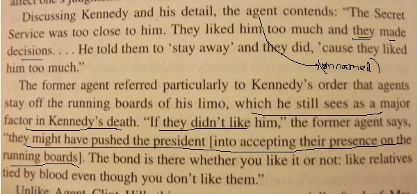 "Melanson's book, page 285 (the JFK era agent was UNNAMED…and his ""logic"" is convoluted"