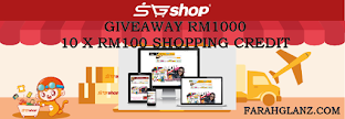 Giveaway RM1000 Shopping Credit SGshop Malaysia By FarahGlanzDotCom