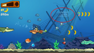 current-in-underwater-bananakong-game-ipad