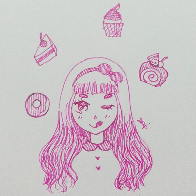 inktober 2015 sweets craving girl