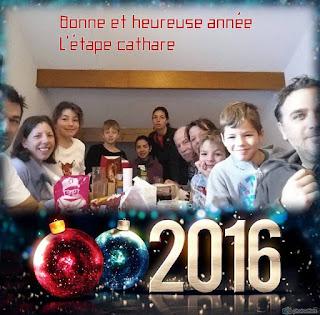 L'équipe du gîte l'étape cathare vous souhaite ses meilleurs voeux pour l'année 2016