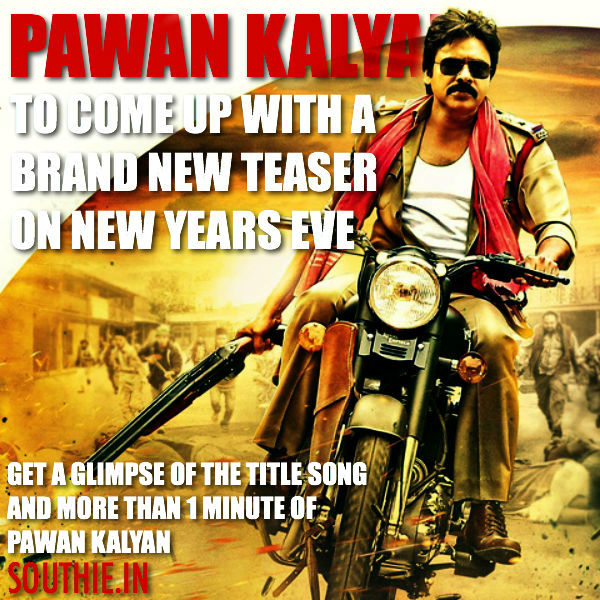 Sardaar Gabbar Singh teaser on New year eve. Pawan Kalyan to mesmerise his fans with a stunning teaser on the eve of the new year. Pawan Kalyan in Sardaar Gabbar Singh, Pawan Kalyan, Powerstar, Sardaar Gababr Singh,