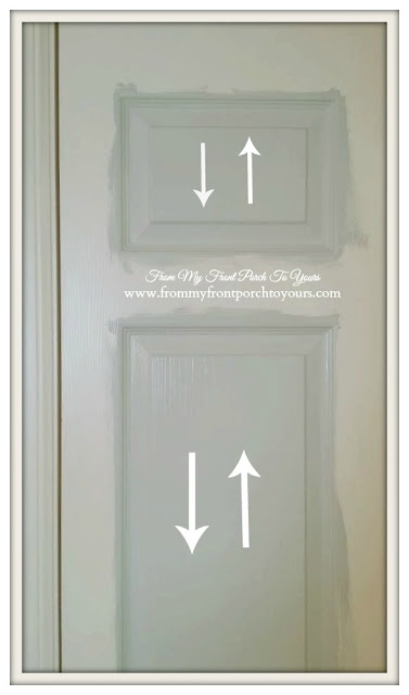 Next painting tip  is to fill in the insets of the doors-From My Front Porch To Yours.