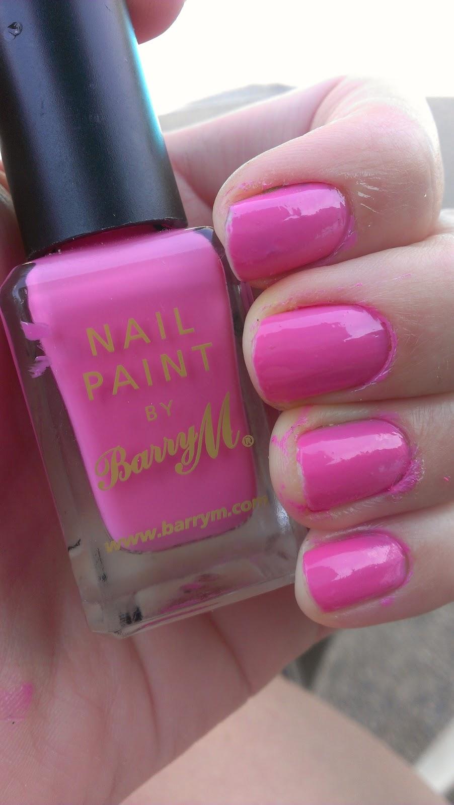 OPI Nothin' Mousie 'bout it, OPI polish, polish swatch, MUA polish, MUS 279 bright pink swatch