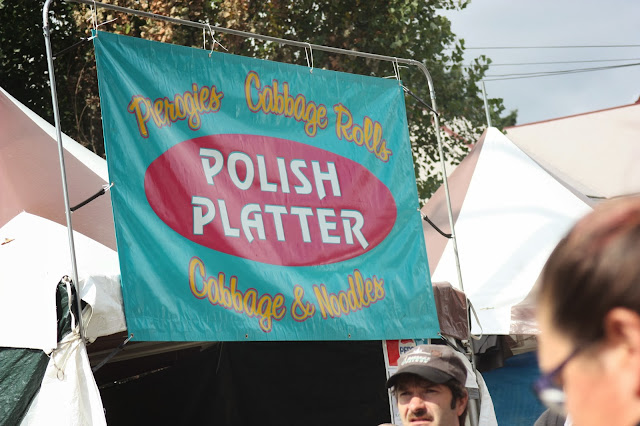 """Polish Platter"" banner at fair"