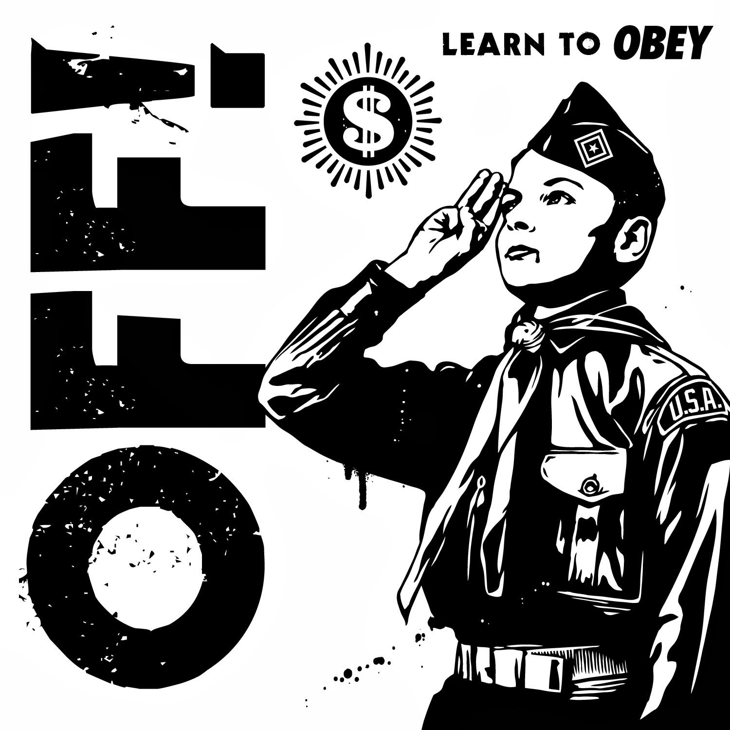 "Record Store Day 2014 Exclusive Off! x Obey Giant ""Learn To Obey"" 7"" Single Vinyl Record"