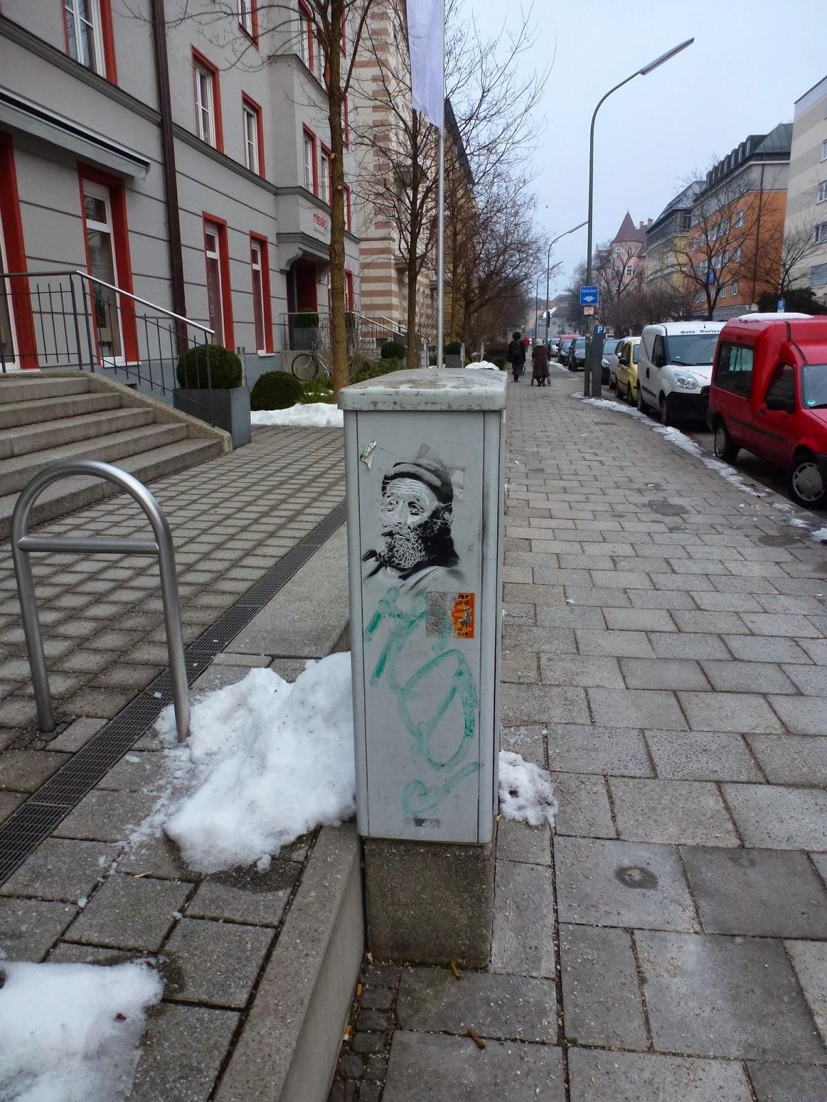 Stencil in München, Streetart, Urbanart