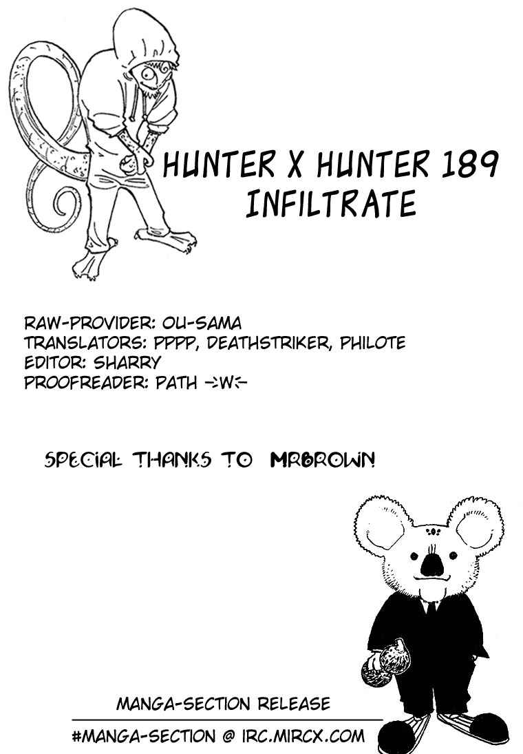 Dilarang COPAS - situs resmi www.mangacanblog.com - Komik hunter x hunter 189 - penyusupan 190 Indonesia hunter x hunter 189 - penyusupan Terbaru 15|Baca Manga Komik Indonesia|Mangacan