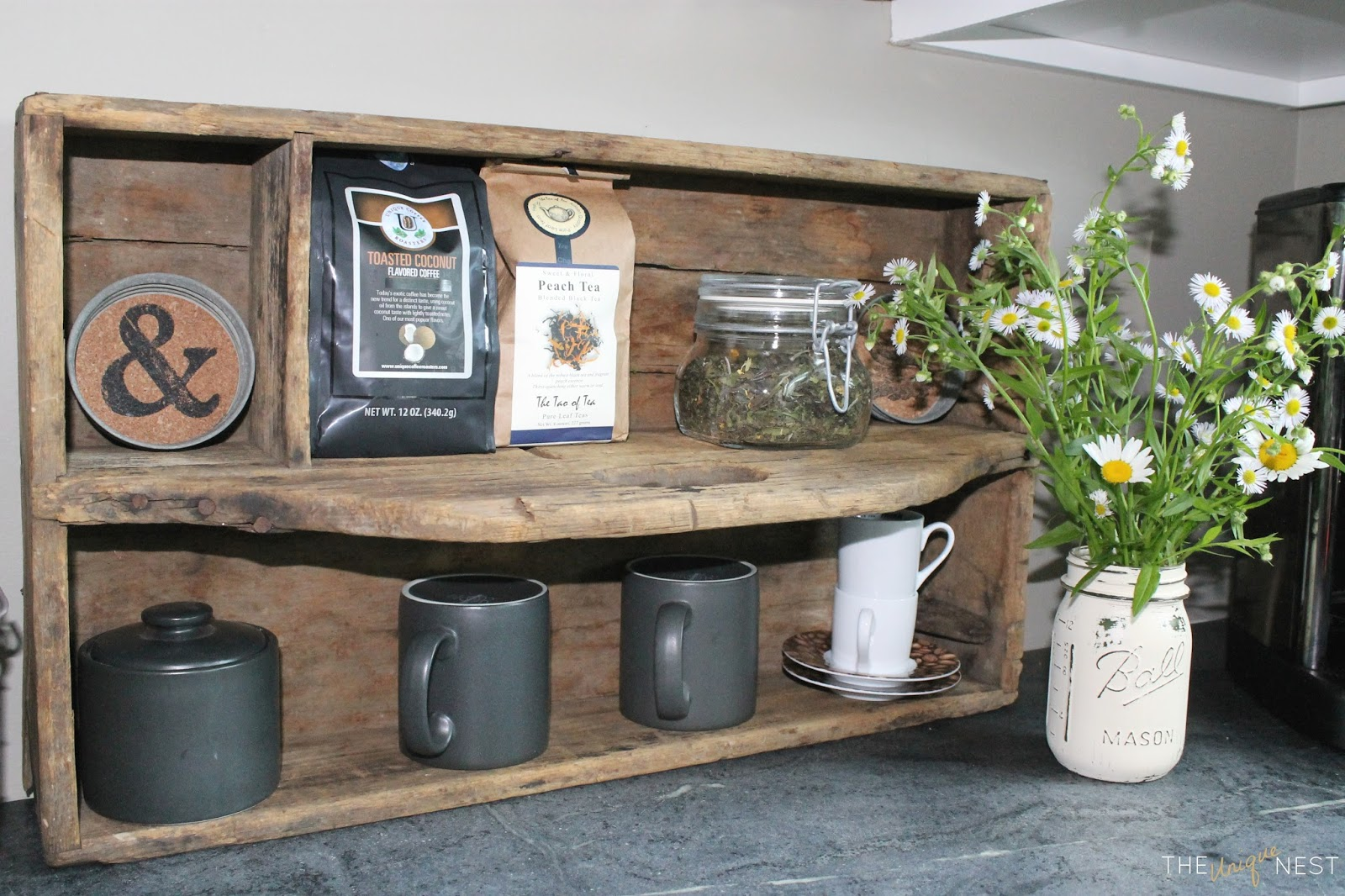 a couple weeks ago i discovered a beautiful new artisan co op shop in my home town read the full post about the olde mercantile here unique diy coffee station