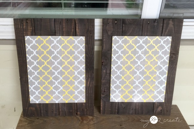 Pallet and Scrap Wood DIY Picture Frames with pattern