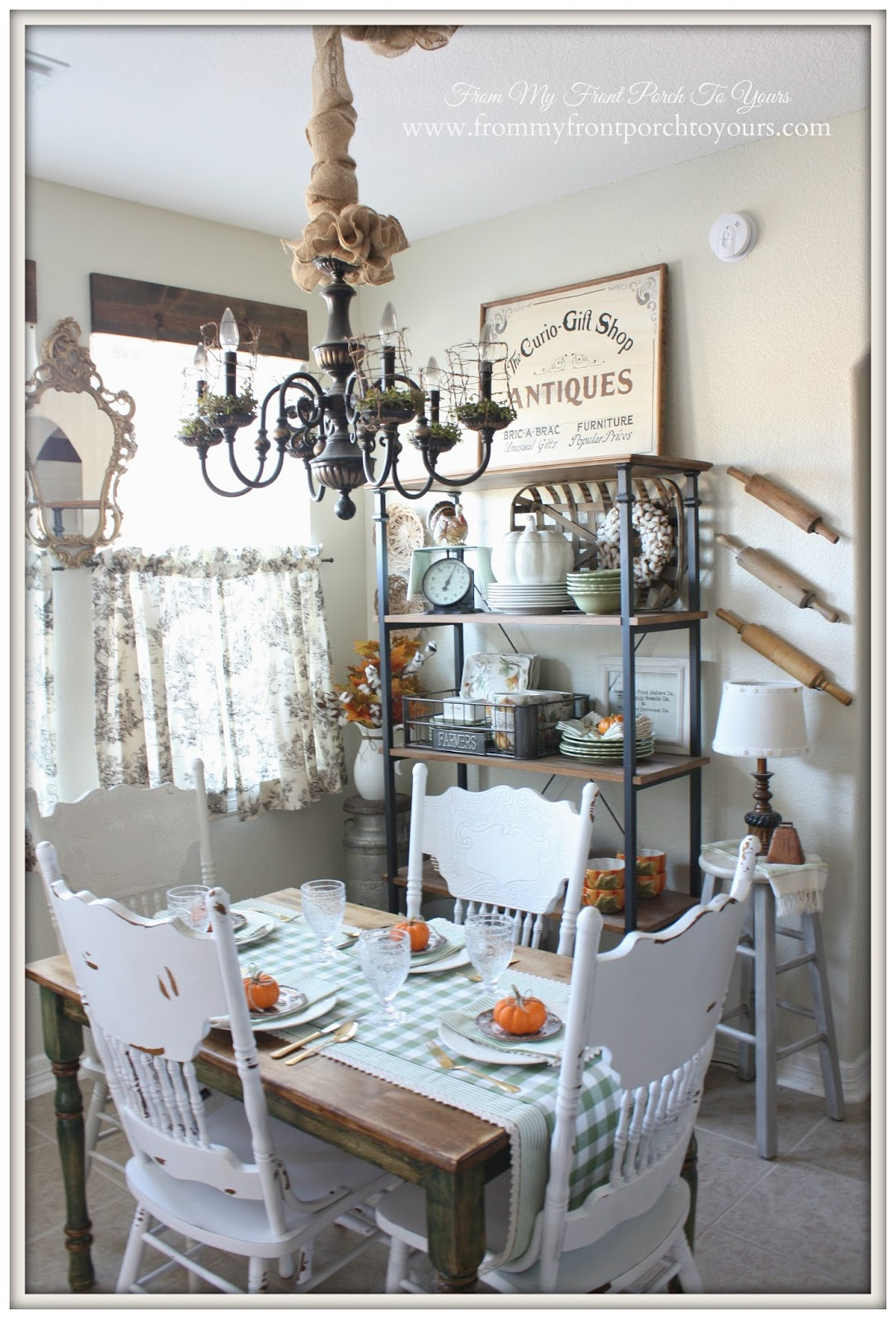 Farmhouse Style Fall Kitchen From My Front Porch To Yours