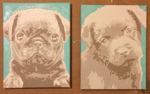 puppy-paintings, puppy-painting, pet-portrait, pop-art-pet-portrait,