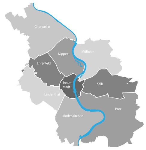 Stadt Köln - Map