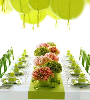Life in color june 2013 not only are these green receptions just almost as good as a trip to emerald city but look at the individual green wedding cakes whats not to love junglespirit Image collections