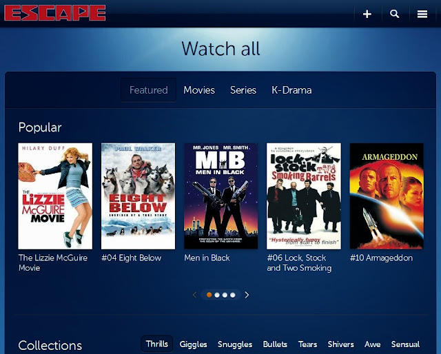 Choose from a variety of movies