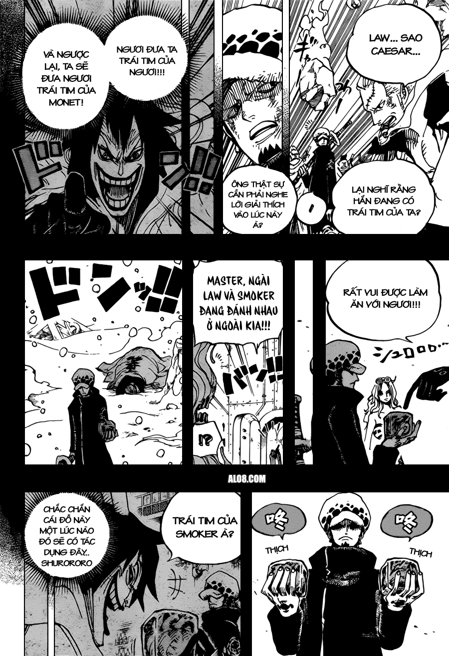 One Piece Chapter 694: Kẻ nguy hiểm số một 014