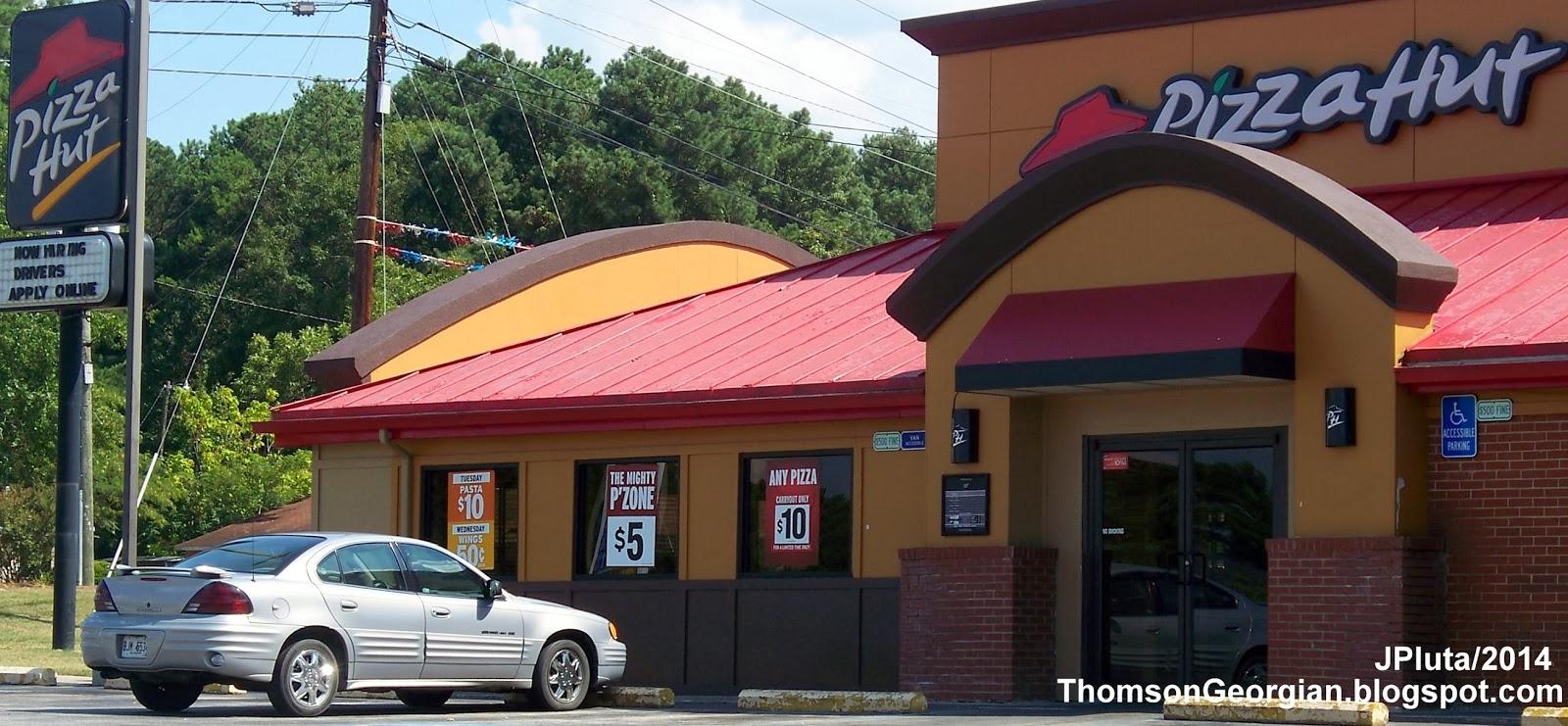 restaurant fast food menu mcdonald s dq bk hamburger pizza mexican pizza hut thomson washington road entrance pizza hut pasta wing street restaurant mcduffie county thomson ga