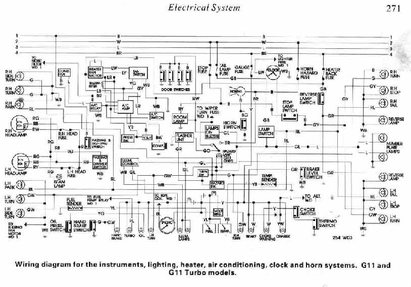 Daihatsu Charade G11 And G11 Turbo Electrical System Diagram | All on chrysler dodge wiring diagram, willys wiring diagram, bomag wiring diagram, mgb wiring diagram, lexus wiring diagram, acura wiring diagram, puch wiring diagram, avanti wiring diagram, karmann ghia wiring diagram, volkswagen wiring diagram, dodge truck wiring diagram, peterbilt trucks wiring diagram, grumman llv wiring diagram, merkur wiring diagram, corvette wiring diagram, international truck wiring diagram, morris minor wiring diagram, can am wiring diagram, jawa wiring diagram,