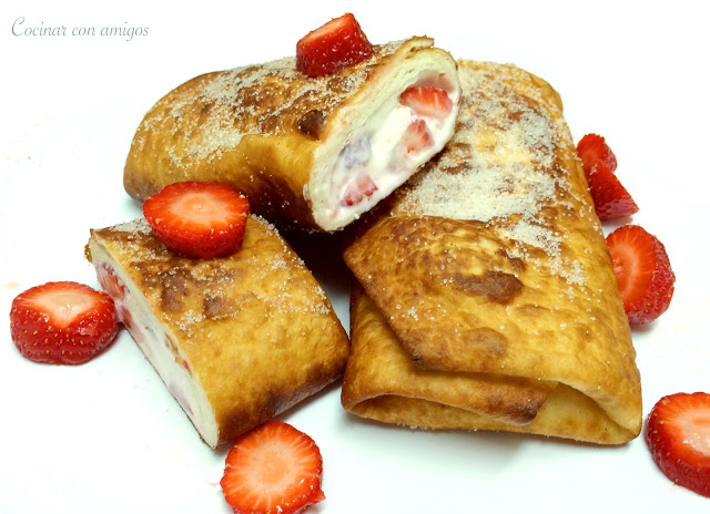 Strawberry Cheesecake Chimichanga