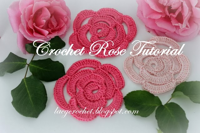 Crocheting Roses : Lacy Crochet: Crochet Rose Tutorial