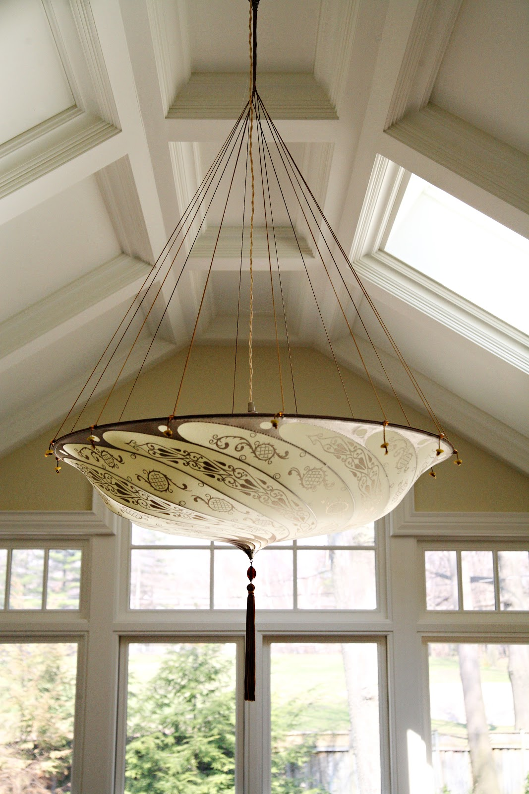 id fortuny chandeliers f parasol available pendant chandelier hanging silk l at two lighting lights furniture
