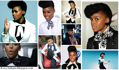 Janelle Monae collage - I love Ankara