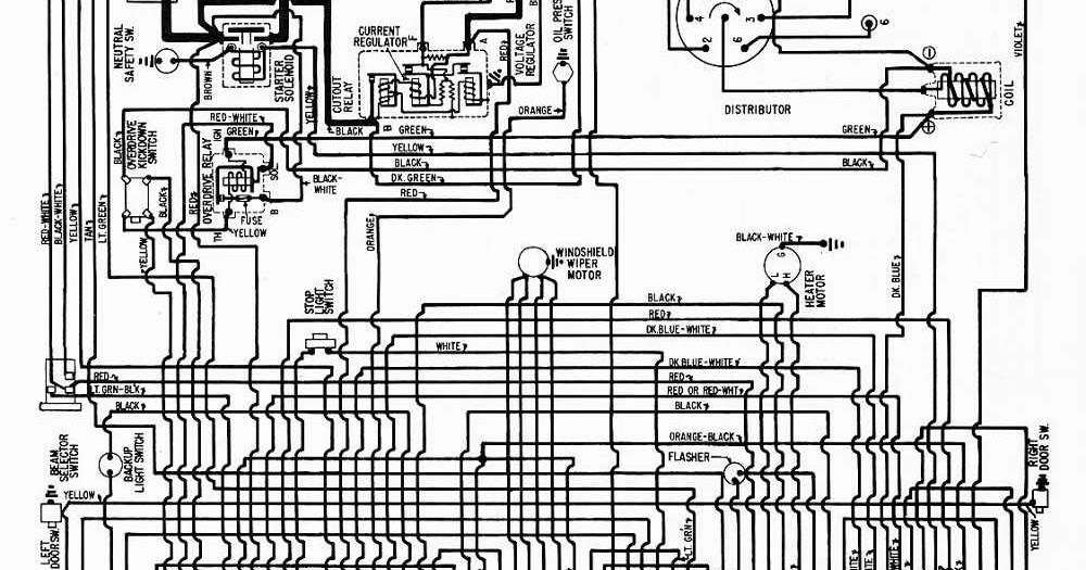 Wiring Diagrams 911  1958 Plymouth 6 All Models Wiring Diagram