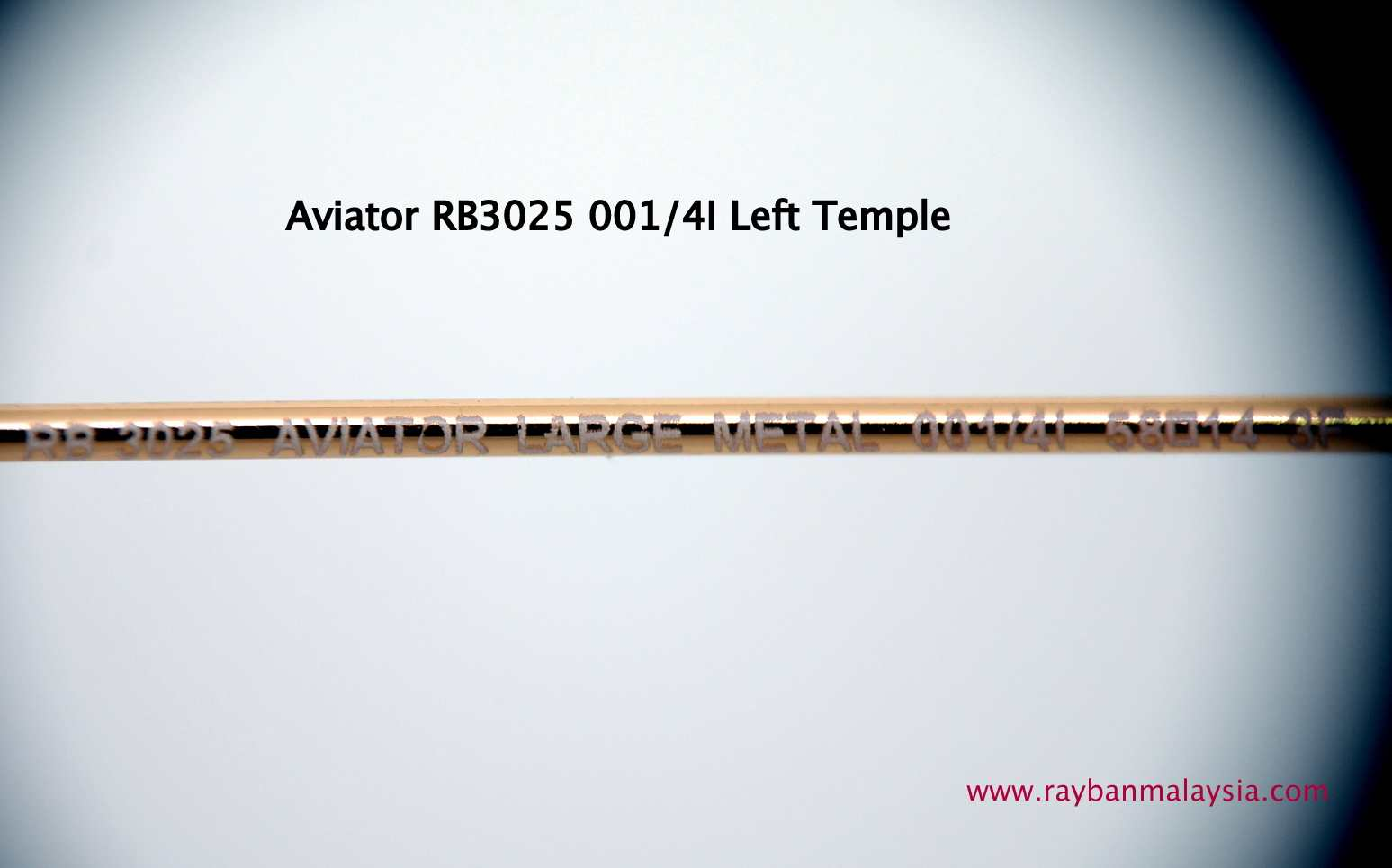 how to tell if ray ban aviator sunglasses are fake  genuine rayban aviator 001/4i left temple