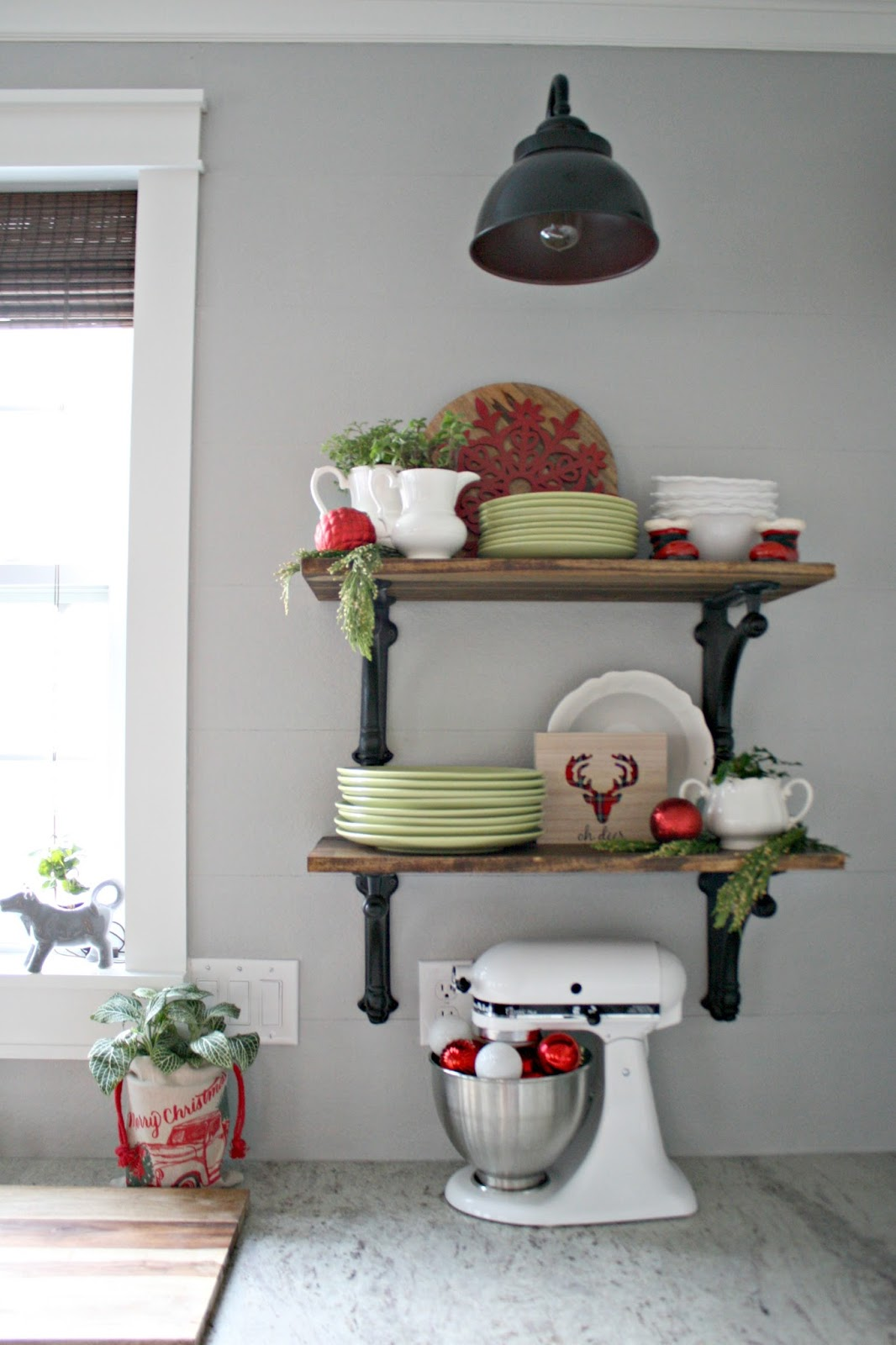 Kitchen Christmas Tour The Christmas Kitchen From Thrifty Decor Chick