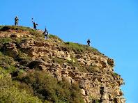Arribant a dalt del Turó de la Creu de Gurb